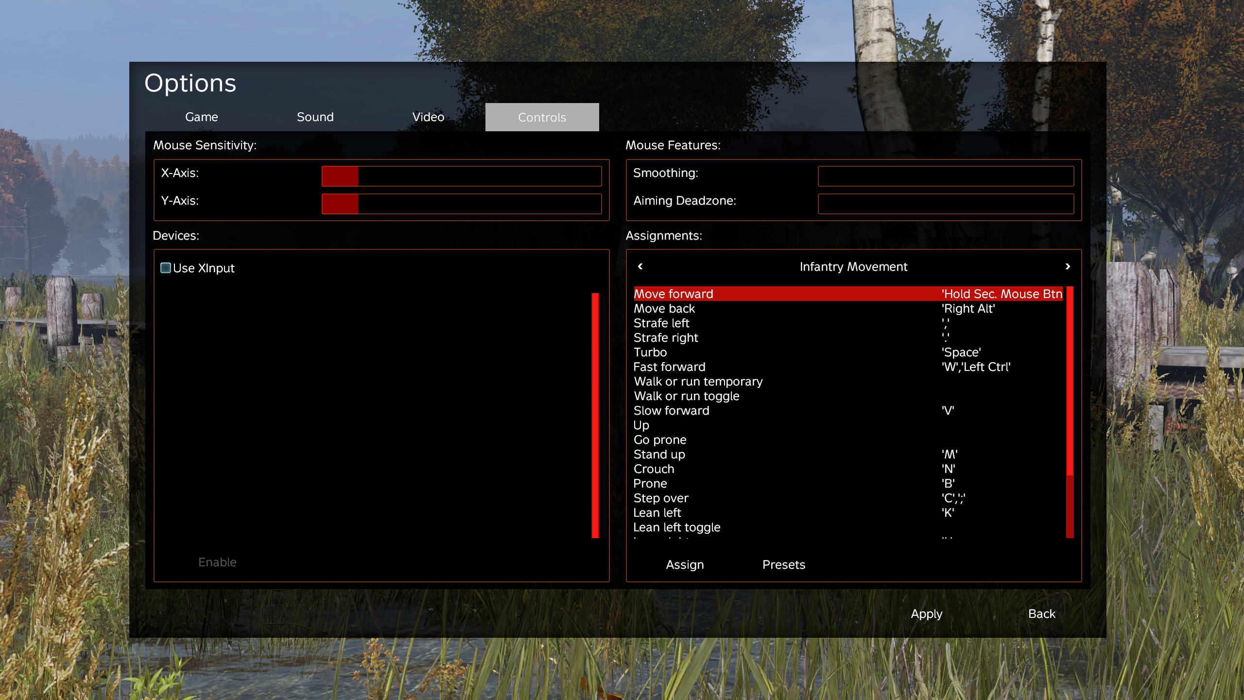 ⚓ T125104 DayZ Standalone exp 0 62 - assigning certain keybord